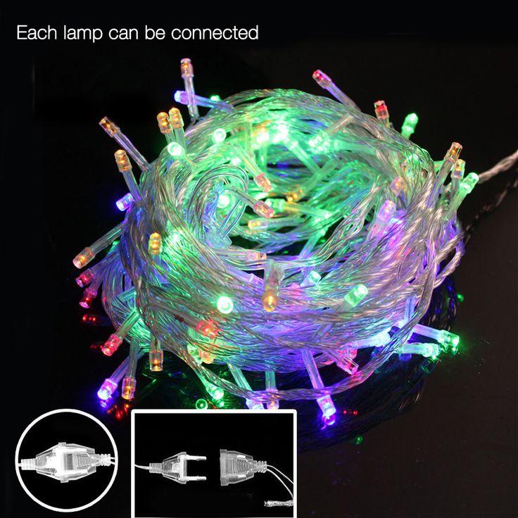 $4.04 (Buy here: https://alitems.com/g/1e8d114494ebda23ff8b16525dc3e8/?i=5&ulp=https%3A%2F%2Fwww.aliexpress.com%2Fitem%2FAC-110V-220V-10M-50Leds-outdoor-Led-string-lights-fairy-christmas-light-for-Christmas-Tree-wedding%2F32692347174.html ) AC 110V/220V 10M 50Leds outdoor Led string lights fairy christmas light for Christmas Tree wedding party garland with tail plug for just $4.04