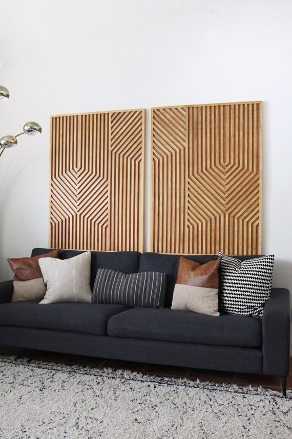 Wood Art Wood Wall Art Geometric Wood Art Geometric Wall Etsy Wood Art Modern Wall Art Geometric Wall