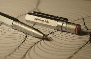 Rotring 600 Roller Ball Pen silver detail