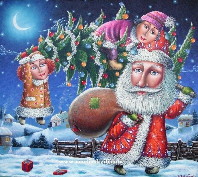 "New Year's Eve Martiashvili (b1982 Tbilisi (Tiflis), GEORGIA; based in UKRAINE) Artist David Martiashvili  was born in 1978 in Tbilisi, Georgia. He graduated from the "" School of the Arts ""for gifted children, then - Tbilisi Art Academy"