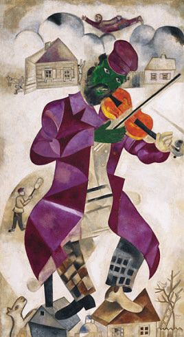 Marc Chagall. Green Violinist (Violiniste). 1923–24 - Guggenheim Museum  Scale and Composition
