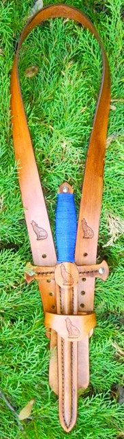DAGGER & sword BELT set w/ WOLF Emblem - Handmade Leather by madebyalejandro on Etsy https://www.etsy.com/listing/235125997/dagger-sword-belt-set-w-wolf-emblem
