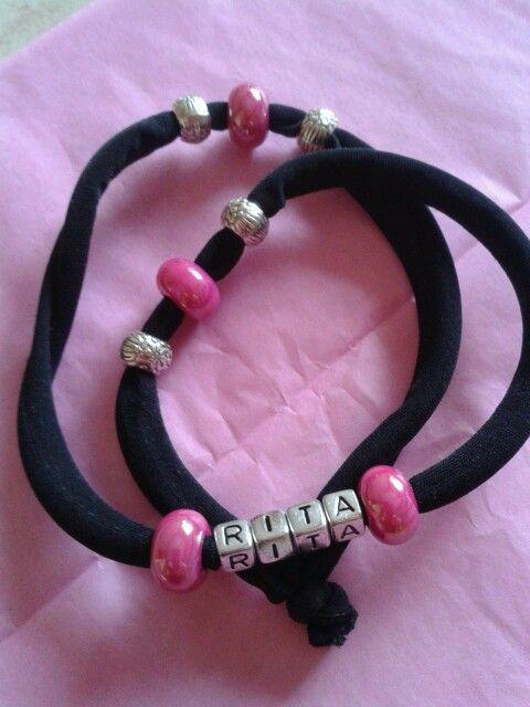Personalised Lycra Bracelet
