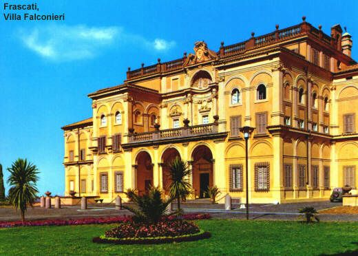 Villa Falconieri, Frascati. Built by cardinal Ruffini on a previous roman Villa. Sold to the Falconieri and modified by Borromini. Today is the seat of CEDE (centro europeo educazione)