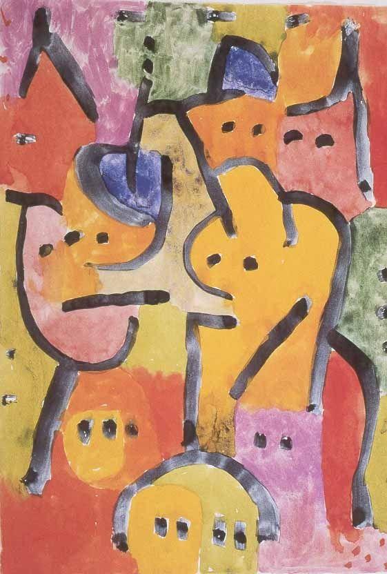 Paul Klee - Classe di ragazze all'aperto