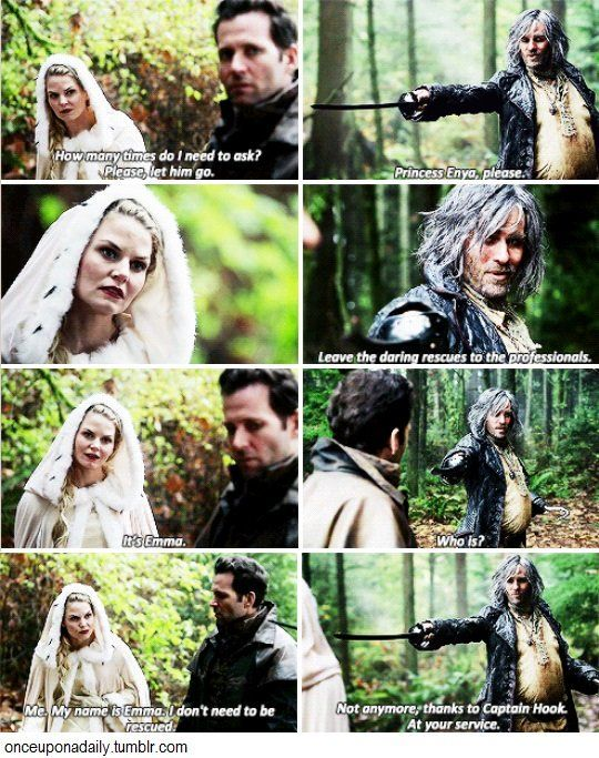 once upon a time emma and hook 4x06 Visit the official once upon a time online at abccom until she was shot by captain hook and lost her no man is belle's master characters: emma swan.