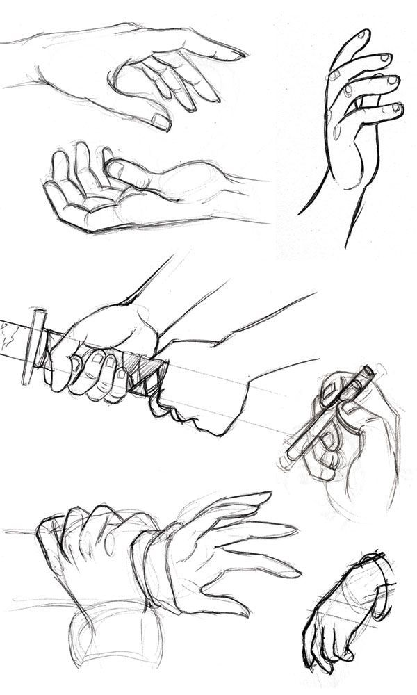 doodle-in-a-can:   hand reference - Art References