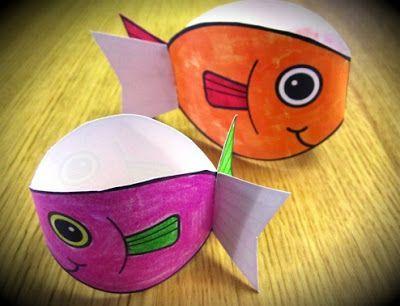 Associação Cristã Pedagógica: Deus criou os peixes: Atividades de sucata e música