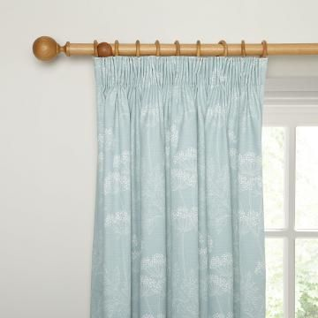 John Lewis ready made curtains Cow Parsley Lined Pencil Pleat Curtains,Duck Egg