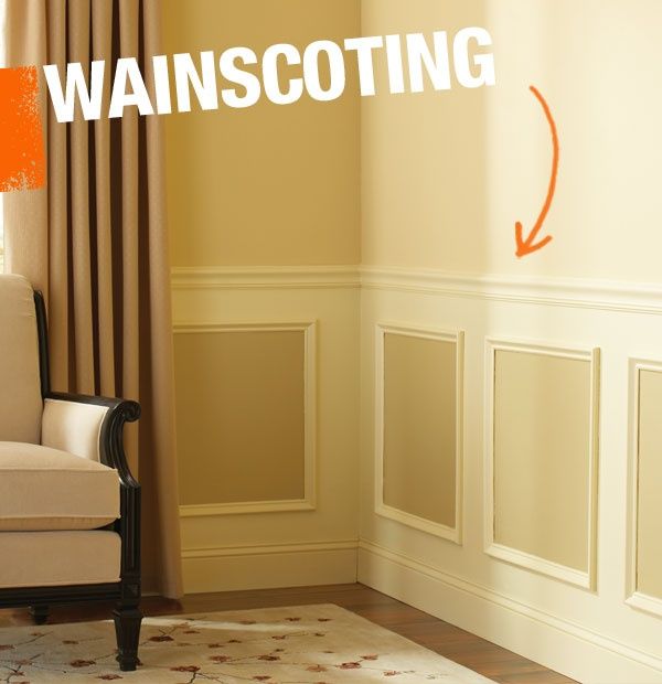 Wainscoting is a term applied to any kind of decorative wood covering applied to the wall, including tongue and groove wood paneling, beaded board, chair rail, board and batten, or moulding.