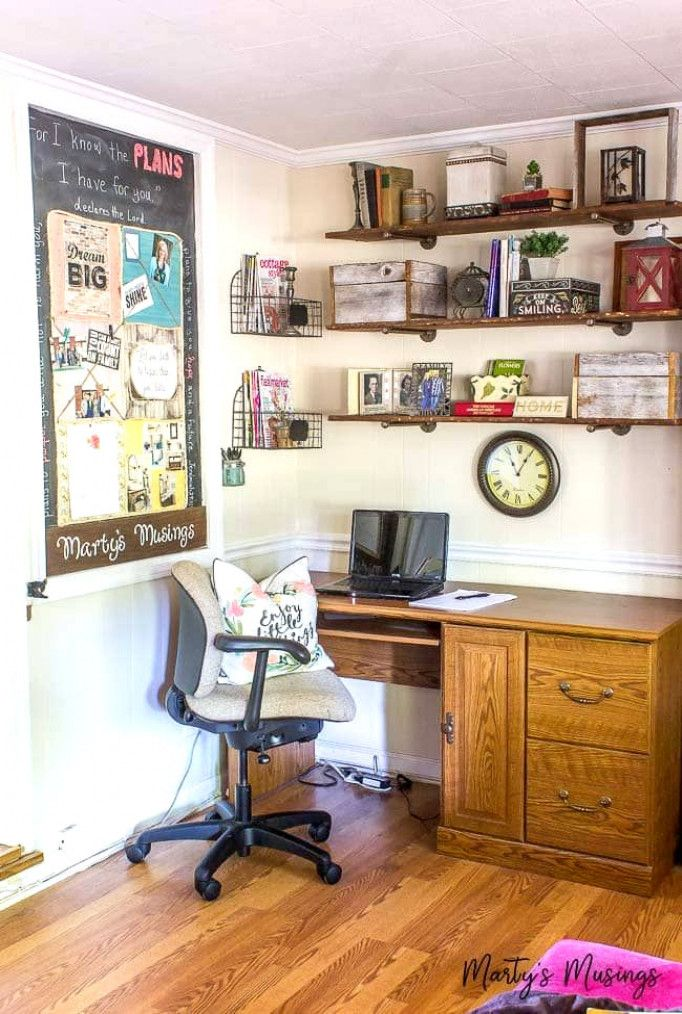 create an organized and thrifty home office nook anything office rh in pinterest com