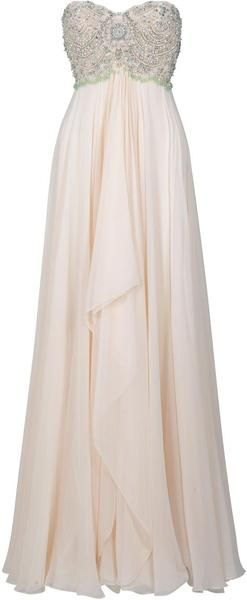 MARCHESA Pearl Beaded Gown. I. Want. This.