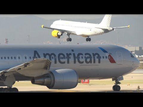 Teke off Barcelona Airport Boeing 767-323/ER (N369AA) American Airlines