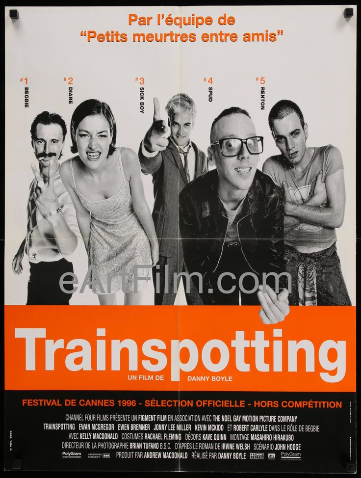 Trainspotting 1996 23.5x31.25 French Affiche Movie Poster
