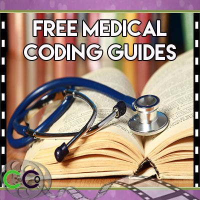 """If you go to CodingCertification.org under """"Free Stuff"""" I think that's where we have the-books, let's see… """"Free Medical Coding Guides & Tools."""" These are all downloadable, single sheets that you could laminate or just e-books or different things. So, under """"Info"""" then EBooks; we have A Career in Medical Coding"""