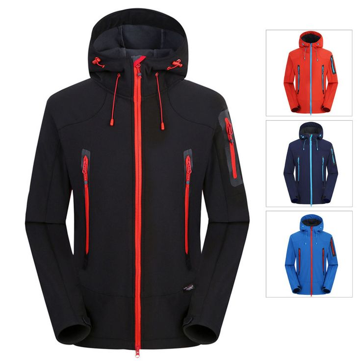 Men Warm Softshell Waterproof Windproof Outdoor Jacket Hiking Camping Sportswear #Unbranded #BasicJacket