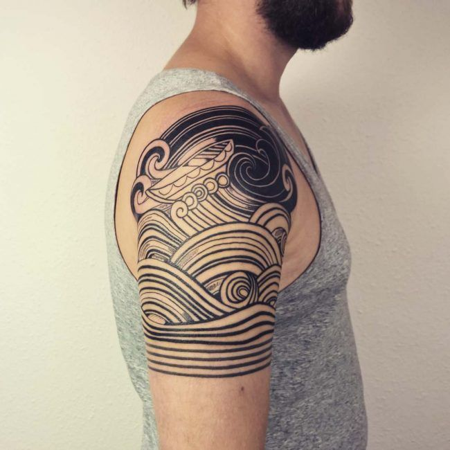 wave tattoo48