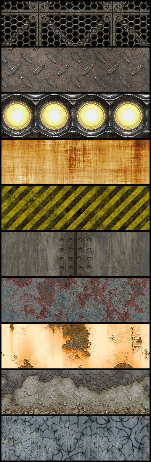 Download 10 Grunge, Rusty and Dirty Tileable Textures