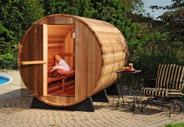 New! Indoor/Outdoor Barrel Sauna Kit 6-person, Free Shipping! sauna kits, saunas  Barrel sauna ...