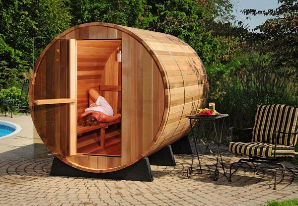 Outdoor Steam Room Kit   ... /Outdoor Barrel Sauna Kit 6-person, Free Shipping! sauna kits, saunas