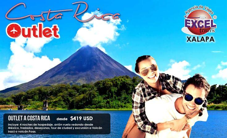 Outlet de viajes a Costa Rica! | Agencia de Viajes en Xalapa Excel Tours