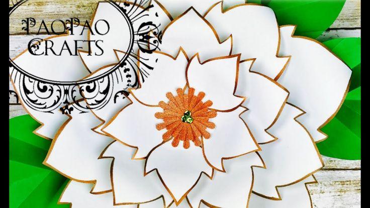 FLOR NOCHEBUENA | FLOR PASCUA | MOLDES GRATIS | POINSETTIA PAPER FLOWER