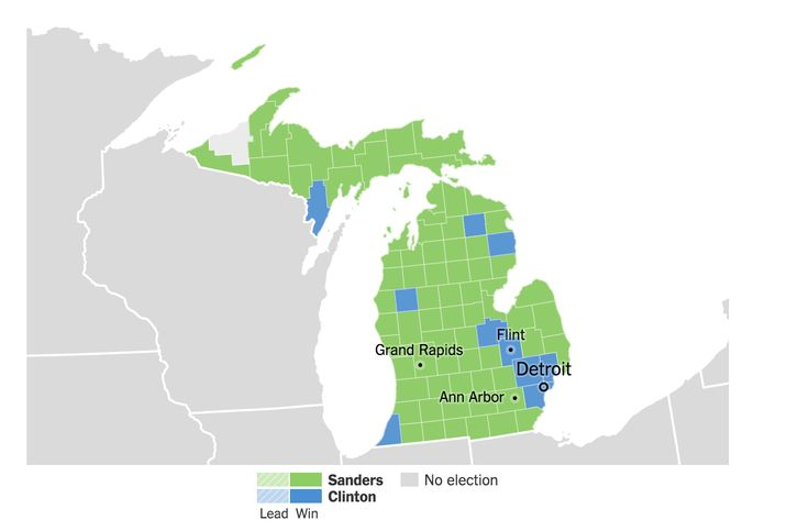 Live election results, part of the 2016 presidential campaign.