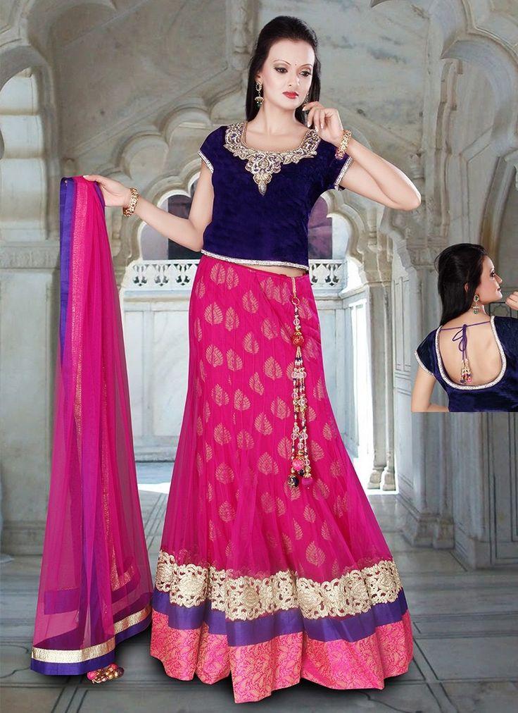 Pink Net Bridal Lehenga Choli #Lehenga #LehengaCholi #WeddingDress #BridalWear #BridalLehengaCholi #OnlineShopping #LehengaCholiOnline