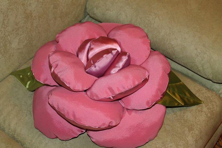 Как сделать подушку-Розу своими руками