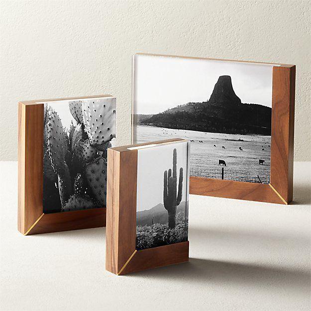 Rudd Walnut And Acrylic Frames Cb2 In 2021 Unique Picture Frames Acrylic Frames Picture Frames