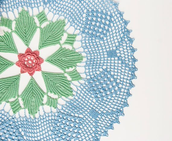 Crochet doily tabletop decor lace centerpiece by TableTopJewels