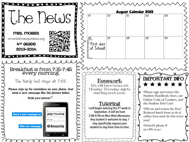 The 25+ best Monthly newsletter template ideas on Pinterest - school newsletter
