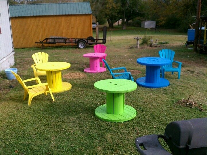 34 Old Wooden Spools Ideas…. would love this on the playground!  @lclary611 there's some good ideas for the NextGen building!