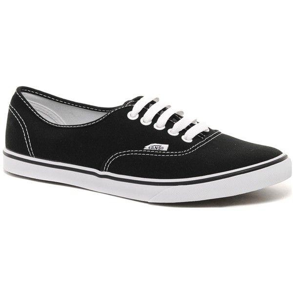 Vans Lo Pro Classic Black and White Lace Up Trainers ($58) ❤ liked on Polyvore featuring shoes, sneakers, vans, chaussures, sapatos, black, black white shoes, white black shoes, white and black sneakers and kohl shoes