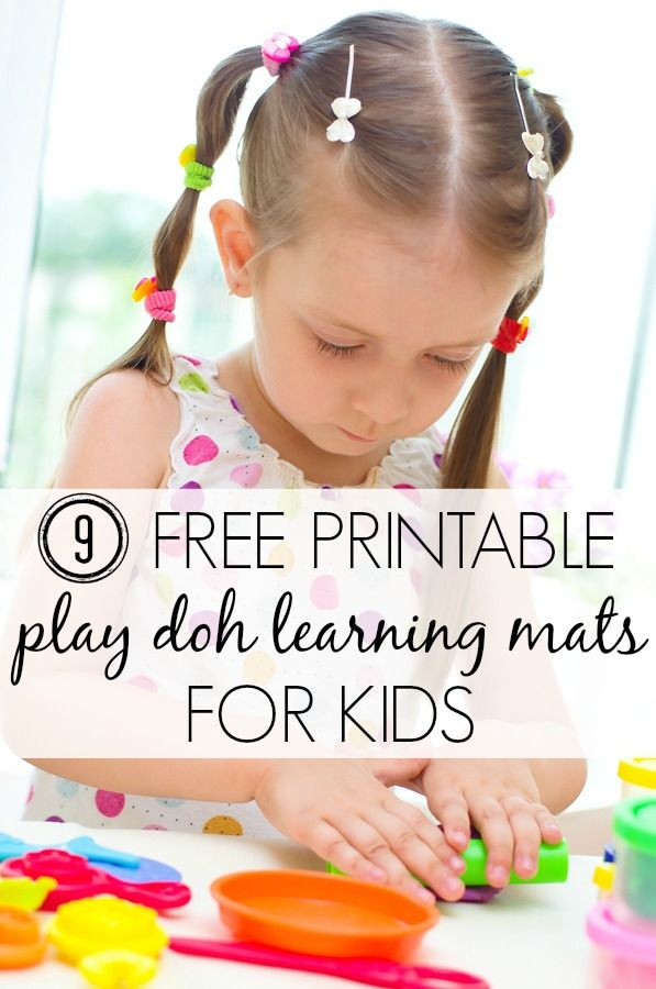 9 free printable Play Doh learning mats for kids