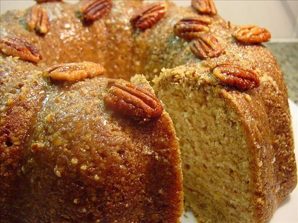 Orange Pecan Spice Pound Cake