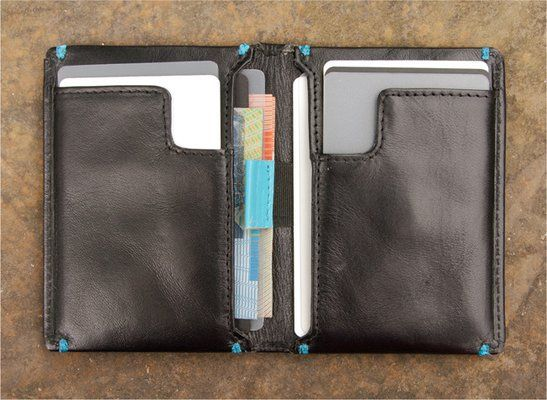 """One would ask """"Why would you spend $80 on a wallet?"""" But sometimes the design is so sleek and sweet that it justifies the price tag. This is one of those times!: Slimsleeve Wallet, Style, Idea Wallets, Slim Sleeve, Mens Wallets, Accessories"""