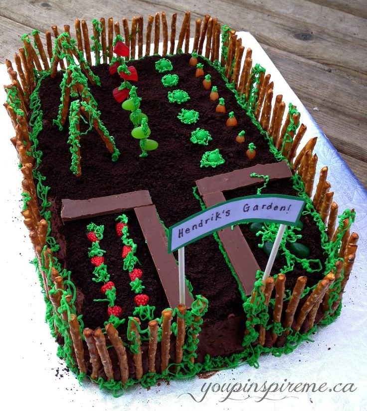 . You Pinspire Me .: Garden Theme Birthday Cake