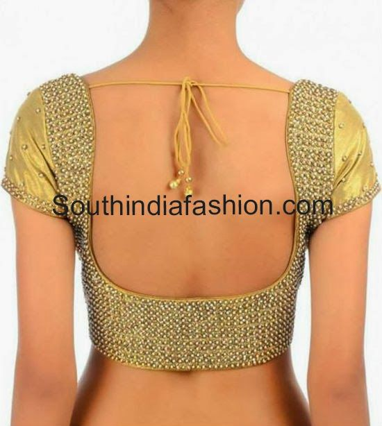 Beautiful open back #Saree #Choli Blouse