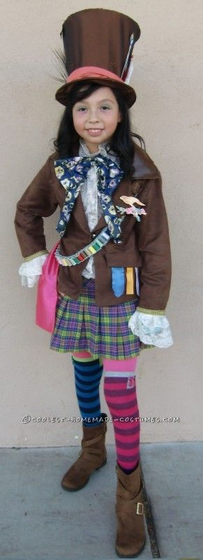 Coolest Mad Hatter Girl Costume Idea - 2