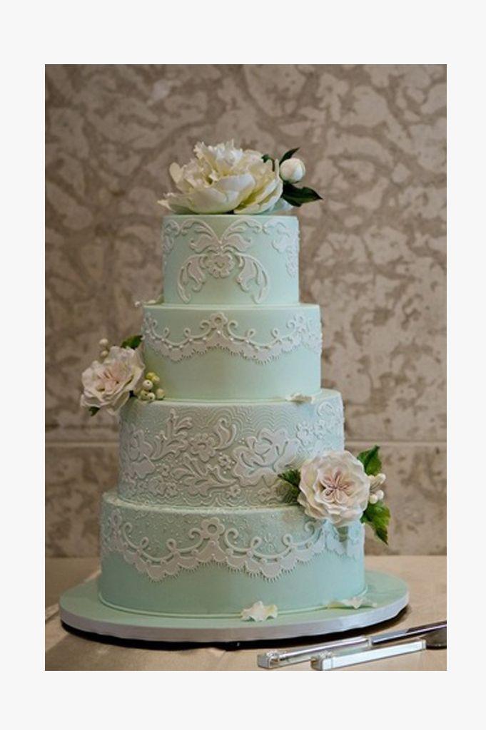 25 Mint Wedding Cakes You'll Love! - Mon Cheri Bridals
