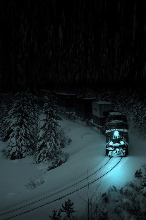 Snow Train, Alberta, Canada                                                                                                                                                      More