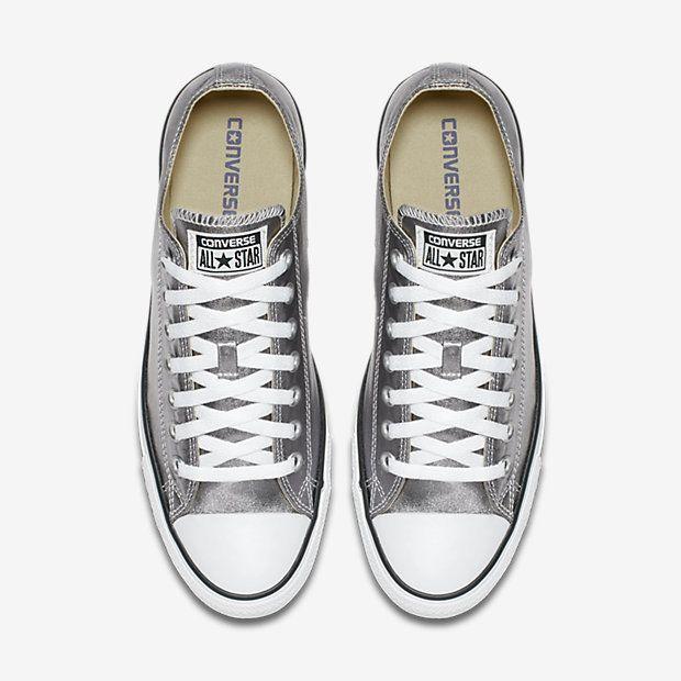 Converse Chuck Taylor All Star Metallic Low Top Shoe Size 9.5 (Grey)