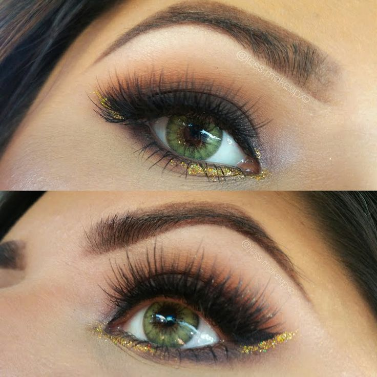 Jessica amps up her sexy smokes with a hint of luscious gold sparklers. Love this look? Recreate it with the must-haves here: