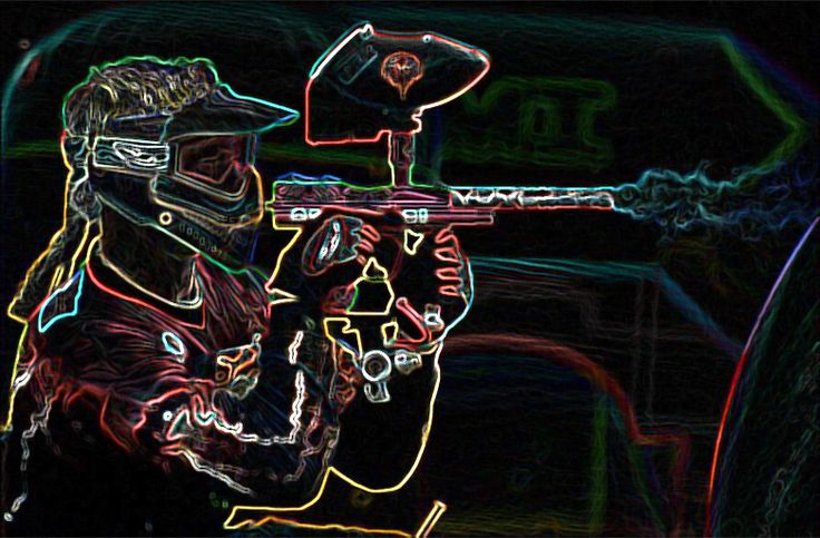 Paintball Warrior Neon And Wallpaper