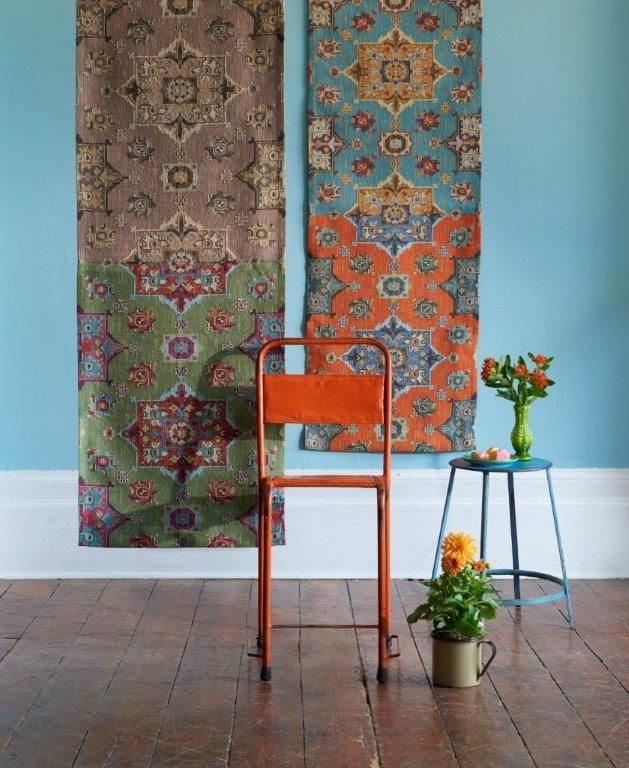 The Anatolia range by Clarke & Clarke. Such a beautiful collection of tapestries and heavy weaves.