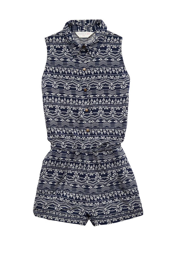 Tribal Print Romper (Kids) | FOREVER21 #F21Girls #Juniors #Romper