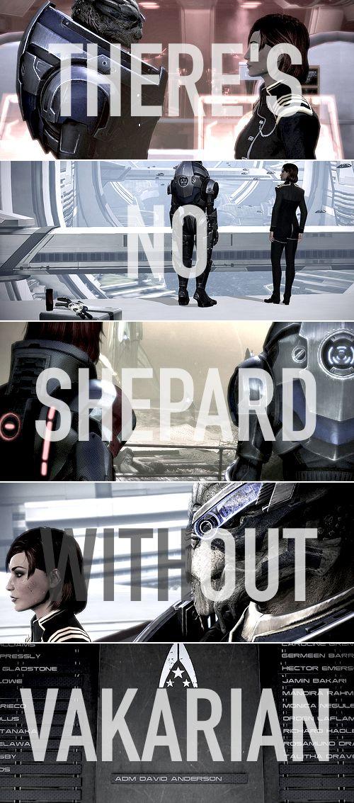 Garrus + Shepard: come                                                                           back                                                                                                                    alive. #masseffect