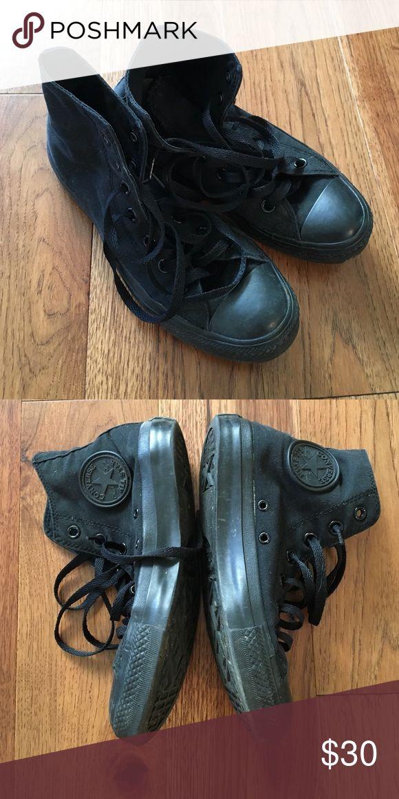 Black hi top converse Gently used hi top converse. Black. Women's 7 Converse Shoes Sneakers