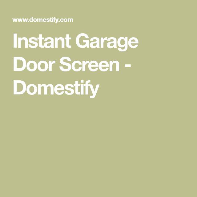 Instant Garage Door Screen - Domestify